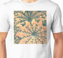 Abstract Orange Flowers Unisex T-Shirt