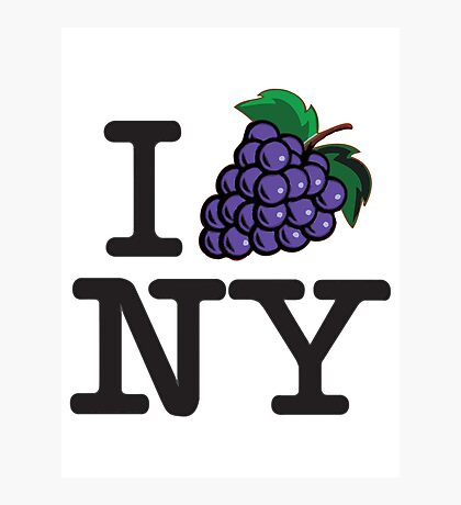 I LOVE NY - WINE Photographic Print