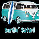 Split Window VW Bus Surfing Safari Van by Frank Schuster