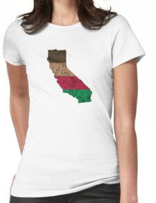 California State Map Outline Womens Fitted T-Shirt