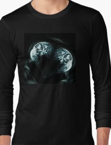 Crystal stylized heart, in the style of Gothic jewelery Long Sleeve T-Shirt