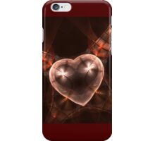 Crystal stylized heart, in the style of jewelery iPhone Case/Skin