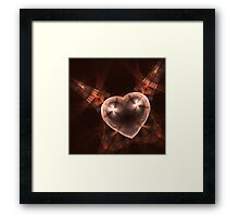 Crystal stylized heart, in the style of jewelery Framed Print