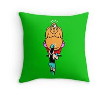 Punch Out King Hippo Throw Pillow
