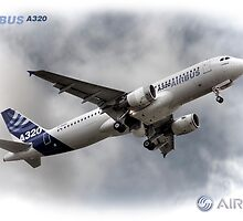 Airbus A320 - Duvets, Cases, Pillows etc by © Steve H Clark
