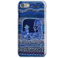 Into the waves she goes by Nikki Ellina iPhone Case/Skin