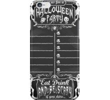 Vintage Blackboard for Halloween Party iPhone Case/Skin