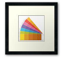 Pantone Palette Framed Print
