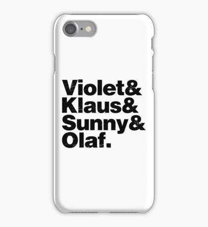 A Series of Unfortunate Names iPhone Case/Skin