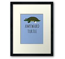 AWKWARD TURTLE Framed Print