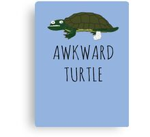 AWKWARD TURTLE Canvas Print