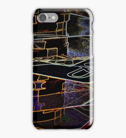 Stacked Deck royal flush poker chips abstract iPhone Case/Skin