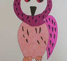 Perusia the pink owl by acreativevision
