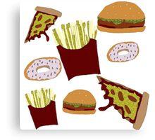 Fast Food Print Canvas Print