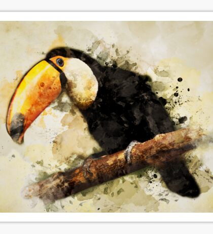 Big tucan on the branch Sticker