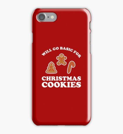 Basic for Christmas Cookies iPhone Case/Skin