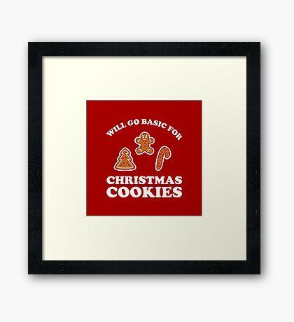 Basic for Christmas Cookies Framed Print