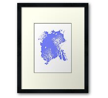 Forest Silhouette in Sky Blue Framed Print