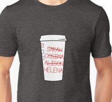 Clone Club Names - Coffee Cup Unisex T-Shirt