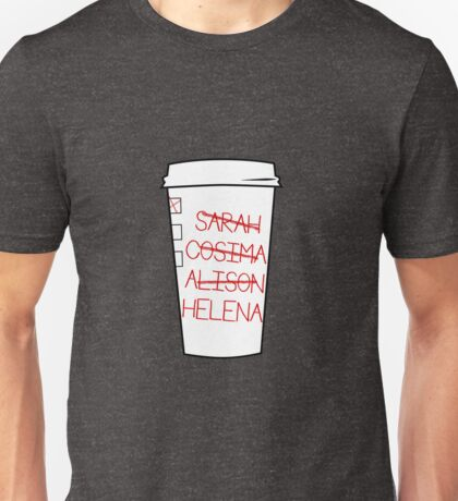 Clone Club Names - Coffee Cup Unisex T-Shirt