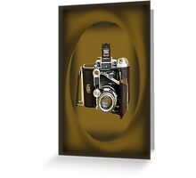 GERMAN RANGE FINDER CAMERA THROW PILLOW-TOTE BAG-PICTURE-AND OR CARD Greeting Card