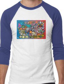 MOBIUS The MAGIC WHALE - SERIES 1 CHARACTERS Men's Baseball ¾ T-Shirt