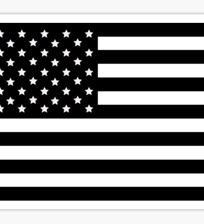 AMERICAN FLAG BLACK Sticker