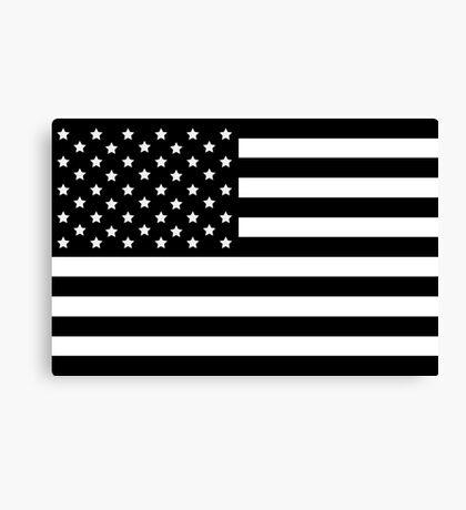 AMERICAN FLAG BLACK Canvas Print