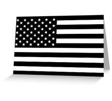 AMERICAN FLAG BLACK Greeting Card