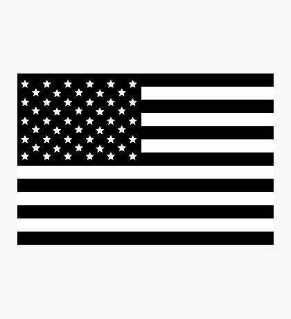 AMERICAN FLAG BLACK Photographic Print
