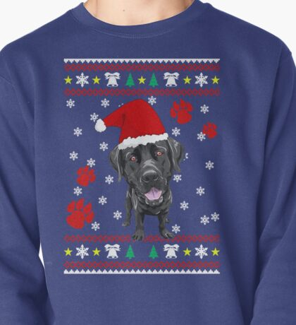 Black Labrador Retriever ugly sweater Christmas T-shirt and gift Pullover