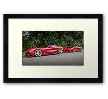 Ferrari TRS & LaFerrari Framed Print