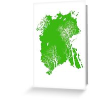 Forest Silhouette in Green Greeting Card