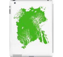 Forest Silhouette in Green iPad Case/Skin