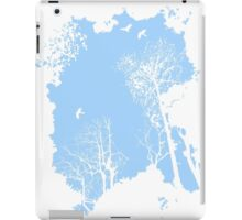 Forest Silhouette in Light Blue iPad Case/Skin
