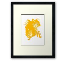 Forest Silhouette in Orange Framed Print
