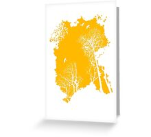 Forest Silhouette in Orange Greeting Card