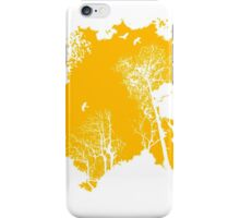 Forest Silhouette in Orange iPhone Case/Skin