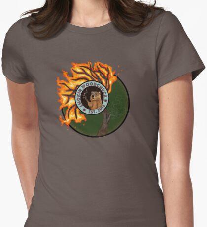 Smoking Woodchuck Womens Fitted T-Shirt