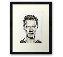 Study of Benedict Cumberbatch Framed Print
