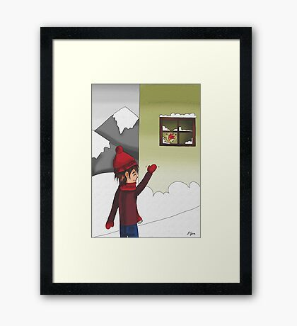 Bye bye, Mr. Elf Framed Print