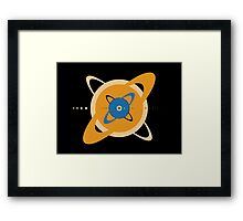 Solar System To Scale - Concentric Framed Print