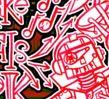 We Like To Make This Look Easy!  - Random Robots Metal For X Sticker