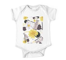 Floral Pittsburgh Penguins Design One Piece - Short Sleeve