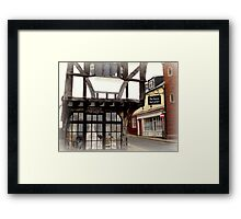 The House that Moved Framed Print