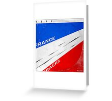 tour de france, all gone. Greeting Card