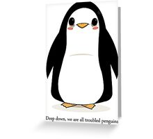 Troubled Penguins Greeting Card