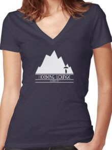 The Iceberg Lounge - Gotham Women's Fitted V-Neck T-Shirt