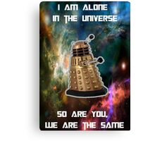I am alone in the Universe [Nebulosa] Canvas Print