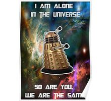 I am alone in the Universe [Nebulosa] Poster